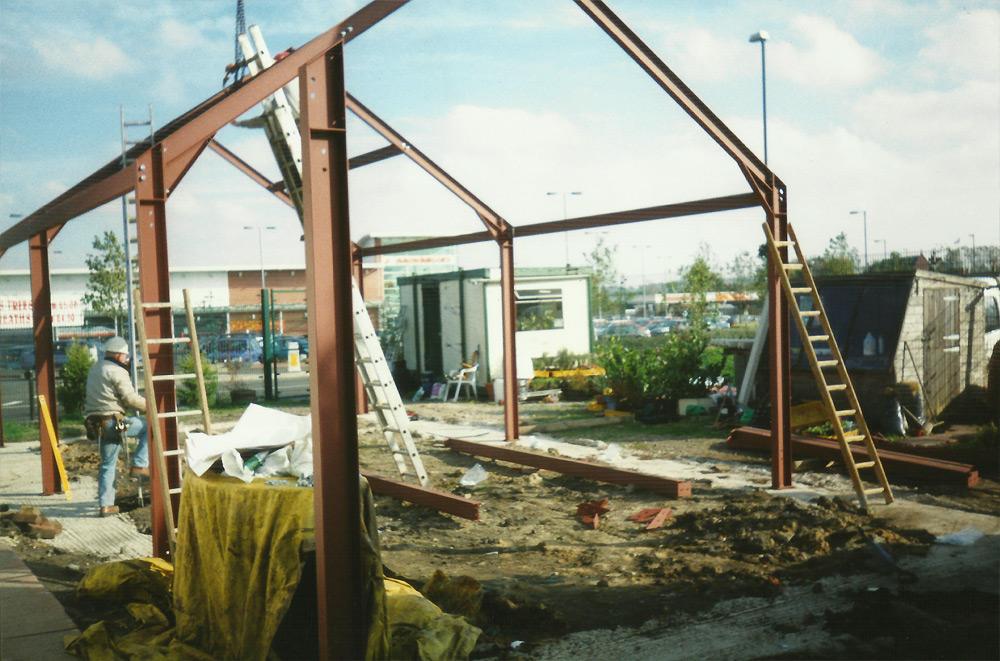 Construction at Green Leevs Garden Centre