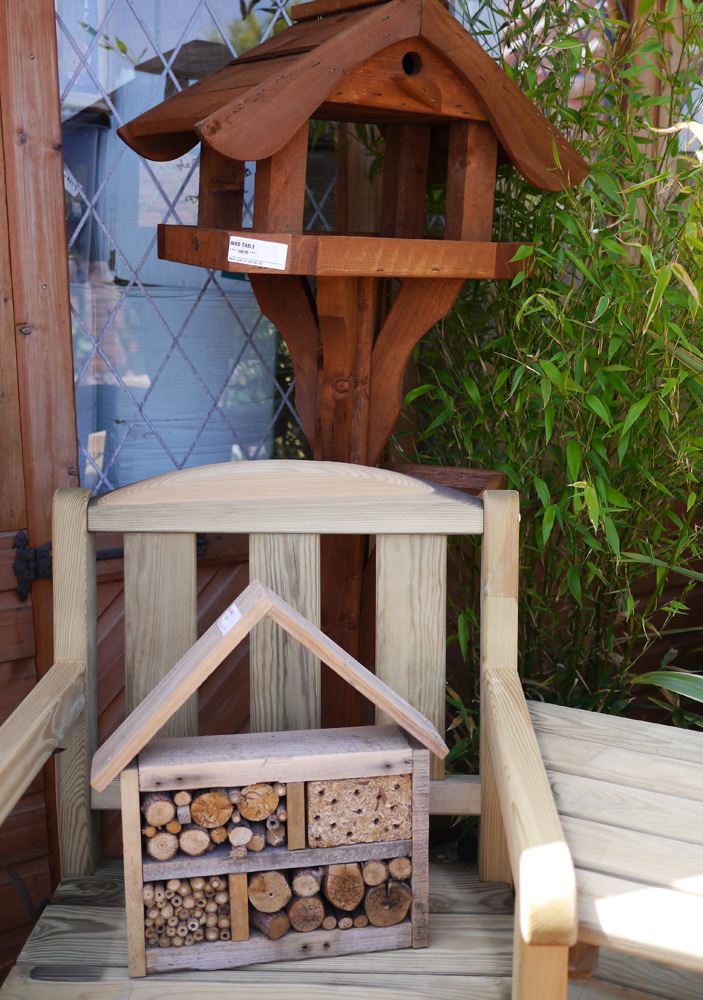 Bird houses and bug hotels