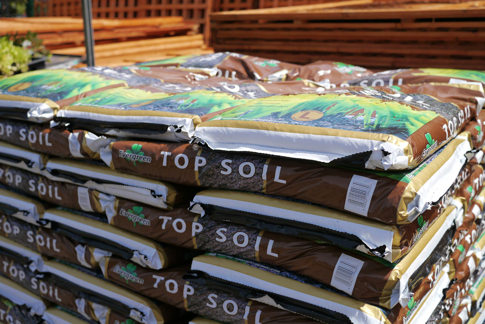 Bags of Top soil, compost and aggregates